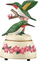 Collections Etc Hummingbirds Decorative Wind Up Music Box Figurine - Plays Fur Elise