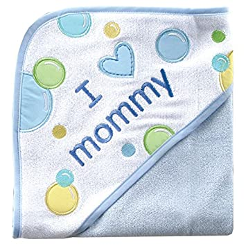 Luvable Friends I Love Family Hooded Towel 05114_PinkMom