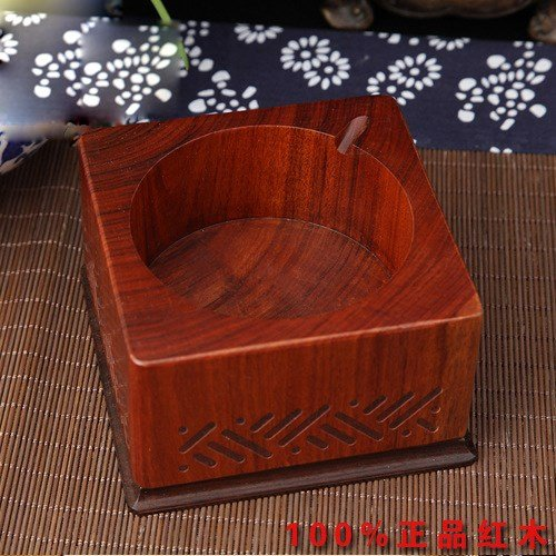 OLQMY Rosewood ashtray integrated molding, office luxury temperament, art gifts ashtray, 10910963, mm