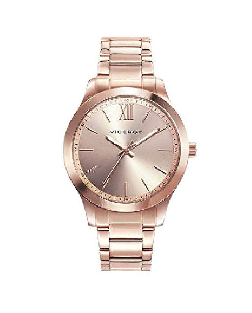 39936c1b6e45 Viceroy 401068-93 - Reloj para Mujer Acero IP Oro Rosa  Amazon.es  Relojes