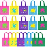 20Pcs Slime Birthday Favor Bag Decor - UTOPP It's Slime Time Party Gift bag,Non-woven Goody Bag,Slime King and Slime Queen Tr