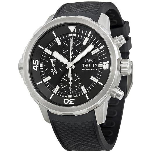 IWC RELOJ DE HOMBRE AUTOMÁTICO CORREA DE GOMA CAJA DE ACERO IW376803: Amazon.es: Relojes