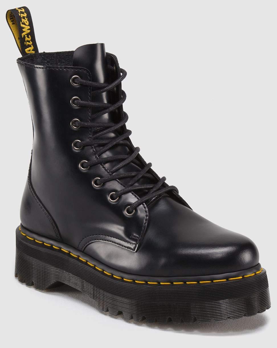 Dr. Martens Women's Jadon Boot,Black Polished Smooth,6 UK/8 M US by Dr. Martens