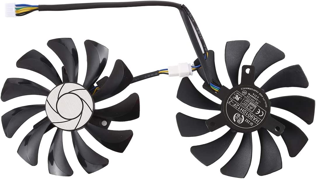 8.5mm 9 inch 9025 2-pin Computer Cooling Fan DC 12V 0.57A 4 Pin Female Star Desktop Computer Radiator Cooling Fan CPU Cooling Fan Diameter Pairs The fan is reliable in quality and has a long servic