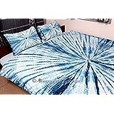 Indian Blue Tie Dye Shibori Indigo Mandala Duvet Cover Hippie Doona Cover Comforter Bedspread Bedding Set