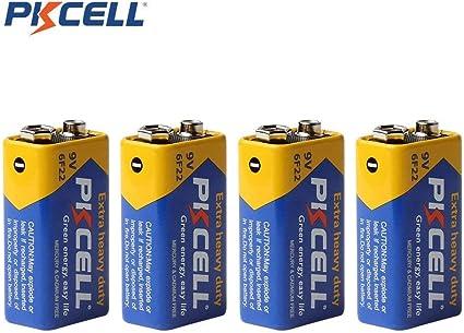Amazon Com 6f22 9v Heavy Duty Battery For Smoke Detector