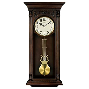 Bulova Norwood II Chiming Wall Clock   16 In. Wide