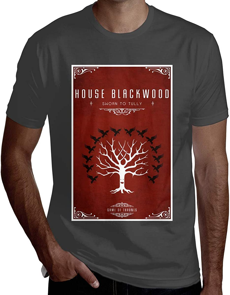 Jurenhq Men Sweaty Game of Thrones Short Sleeve Cool T-Shirt Black