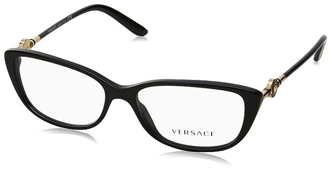5c9c0d38bc44 Amazon.com  Versace VE3206 Eyeglass Frames GB1-54 - Black VE3206-GB1 ...