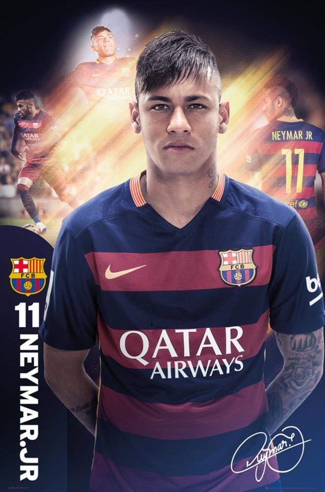 FC BARCELONA FCバルセロナ 15-16 オフィシャル ポスター ネイマール SP1299(29) B015ZX3FL2