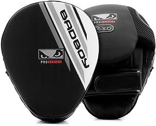 'Bad Boy 'Pro Pattes d'ours Series Advanced–Noir/Blanc–1paire–Pads Pao frappe à coussins pattes d'ours boxe thaï MMA Kick Boxing