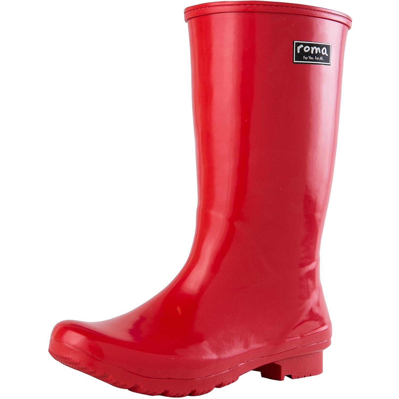 Roma Boots Women's Emma Mid Rain Boots B01L2WNTIY 10 B(M) US|Red