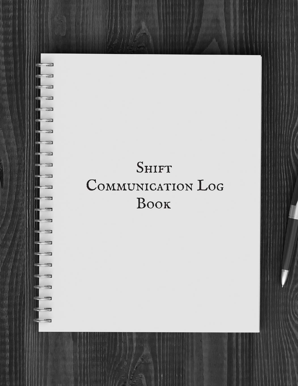 120 Page 8.5x11 Staff Communication Log Book BookFactory Staff Communication Log Book//Journal//Logbook XLog-120-7CS-A-L-Black Black Hardbound