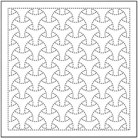 Yokota Bishamon Linked Triangles Sashiko Fukin Japanese cotton sashiko sampler kit WHITE 843K-28