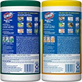 Clorox Disinfecting Wipes Value Pack, Crisp Lemon and Fresh Scent - 2 Pack - 75 Each (Packaging May Vary)