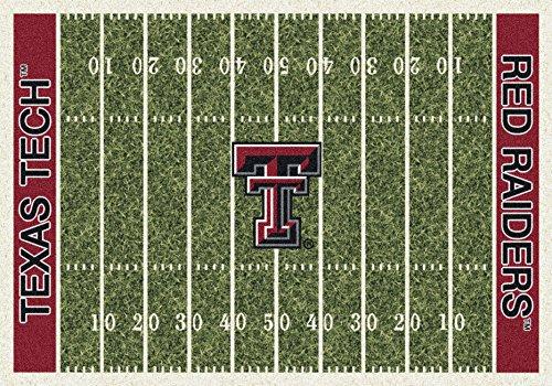 (Texas Tech College Home Football Field Rug: 5'4