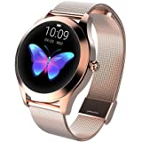 Smart Watch KW10, Round Touch Screen IP68 Waterproof Smartwatch for Women, Fitness Tracker with Heart Rate and Sleep…
