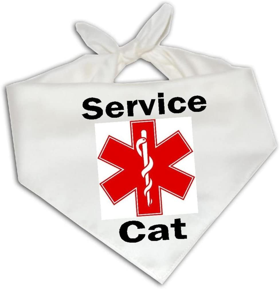 Apple Orange Gifts Service Cat - Pet Bandana One Size Fits Most Medical Support Animal
