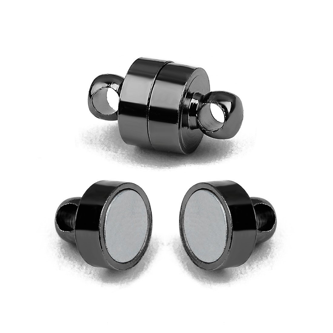 Linsoir Beads 10 Sets Small Strong Magnetic Barrel Clasps Black Magnetic Fasten Specially for RA Person