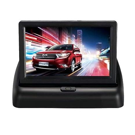 Noodei - Cartel LCD para Coche, Plegable, de 4,3 Pulgadas ...