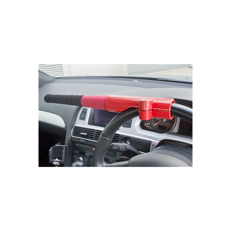 Heavy Duty Car Steering Wheel Lock Vehicle Security Lock Anti Theft 2 Keys R7
