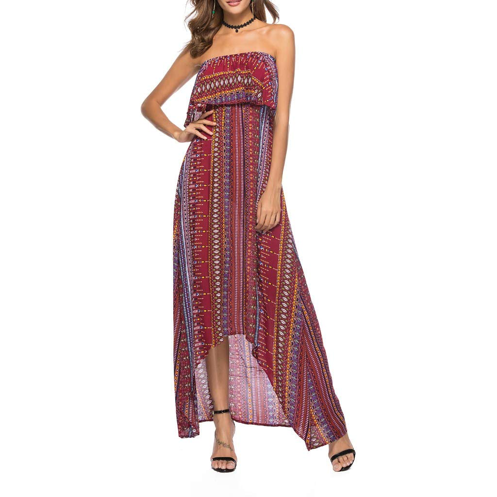 Women Holiday Swimwear Cover Up Chiffon Summer Beach Off Shoulder Maxi Dress by Limsea