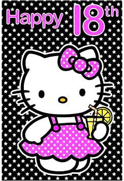 Amazon.com: hello kitty tarjeta de cumpleaños – edad 18 ...