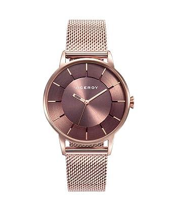 Reloj Viceroy para Mujer con Correa Rosada y Pantalla en Marron 471198-47: Amazon.es: Relojes