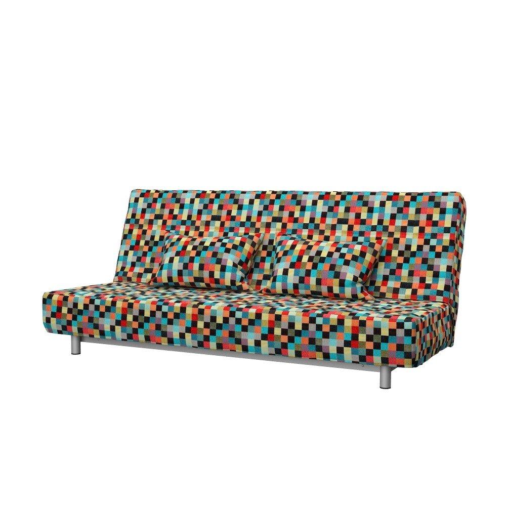 Soferia - IKEA BEDDINGE 3-seat sofa-bed cover, Mozaik Red by Soferia