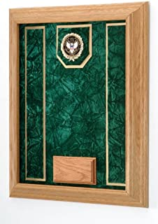 product image for All American Gifts Medal and Award Wall Display Case - 16x20 - Shadow Box (Army Emblem/Green Velvet)