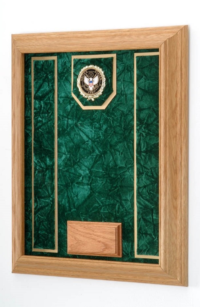 All American Gifts Medal & Award Wall Display Case - 16''x20'' - Shadow box (Army emblem/Green velvet) by All American Gifts