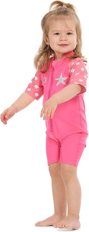 Juicy Bumbles Bañador Bebe - Traje de Baño con Protección Solar Anti UV de Una Pieza para Bebés y Niños Pequeños - Traje de Mangas Cortas UPF50 + - De 6 Meses a 5 años