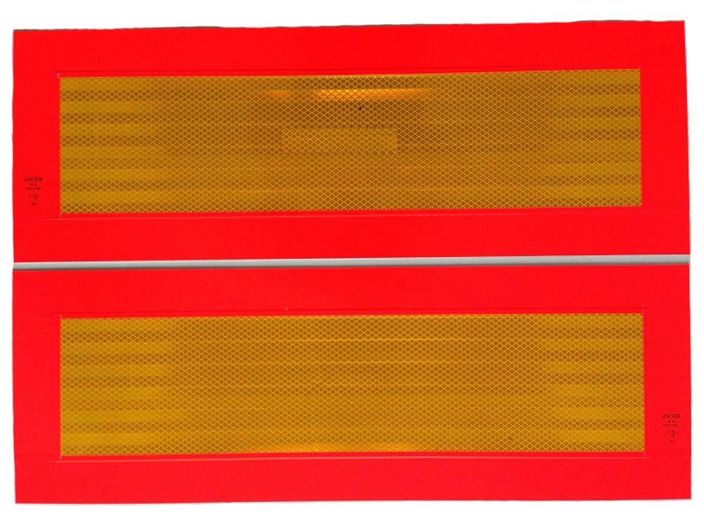 Fahrzeugbedarf Wilms Satz ECE 70 Warntafel/Heckmarkierung, 566 x 197 mm,Aufkleber p.f. LKW