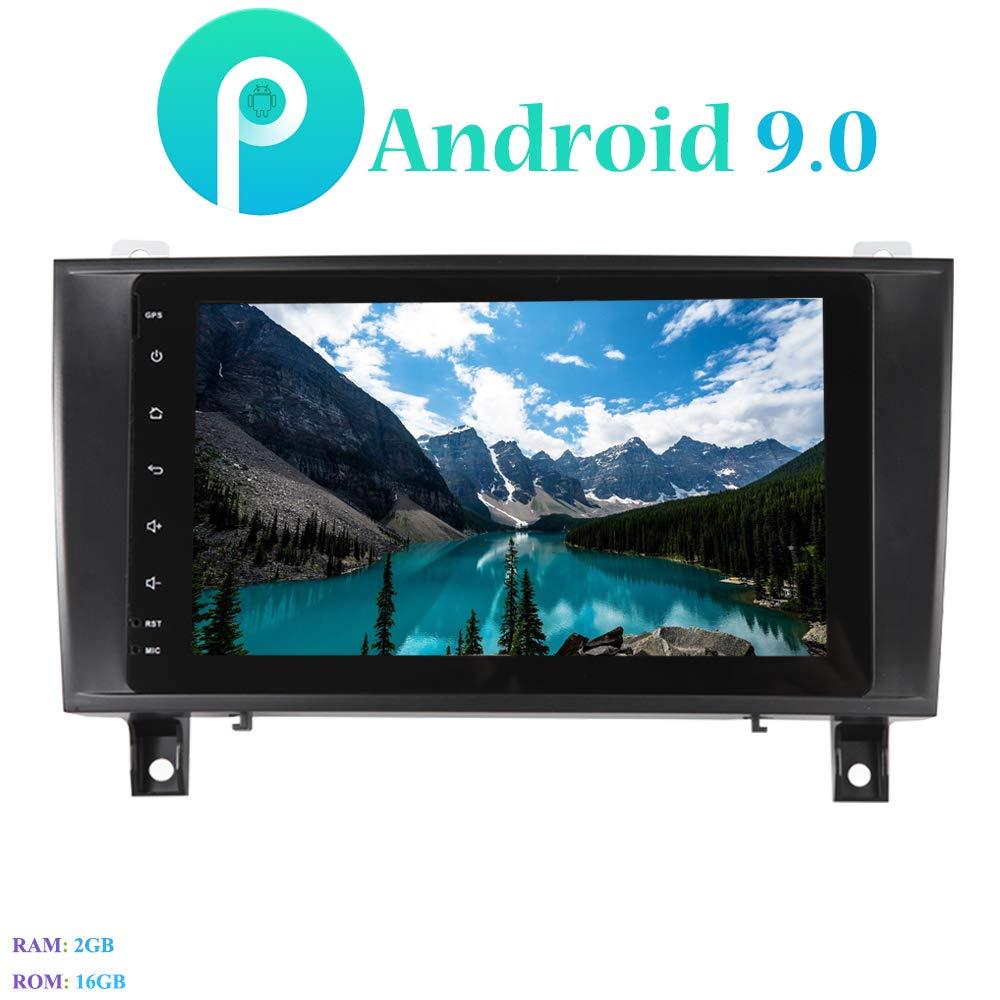 Android 9.0 Autoradio mit DAB USB Stick Hi-azul Car Radio In-Dash 8 Zoll Car Stereo GPS Navigation Moniciver Navi 4-Core Car Audio f/ür Mercedes-Benz SLK171//SLK200//SLK280//SLK350//SLK55