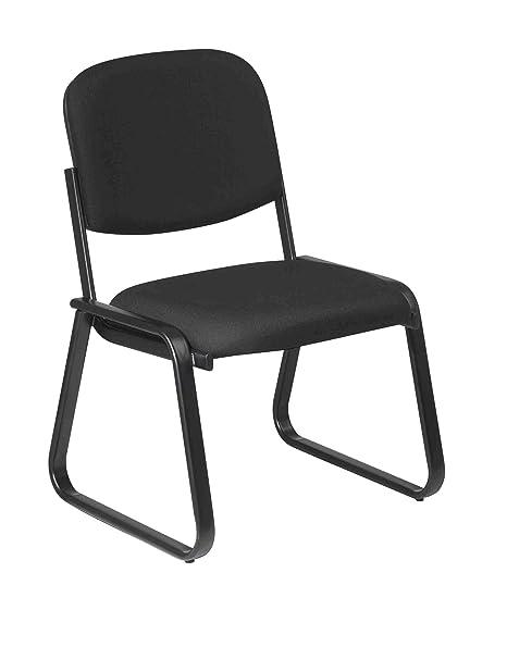 Amazon.com: Office Star Deluxe Sled Base Tela silla de ...