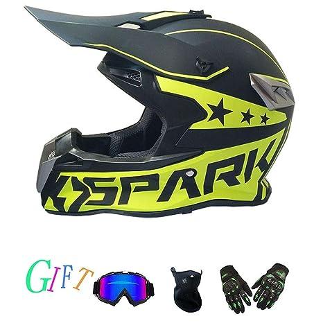 CC-helmet Casco de Motocross para Adultos, Motocicleta MX ...