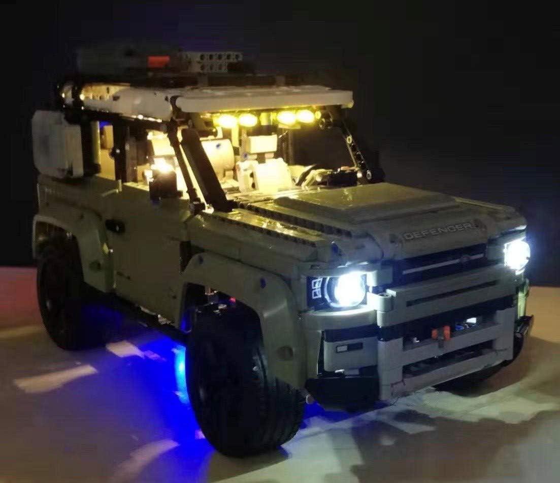 brickled LED Lighting Kit for Lego 42110 Technic Land Rover Defender Lego Set not Included