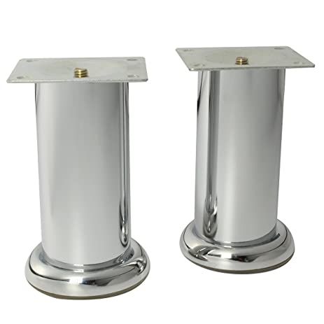 5 Inch Tube Shape Metal Furniture Legs Stable Sofa Feet Replacement