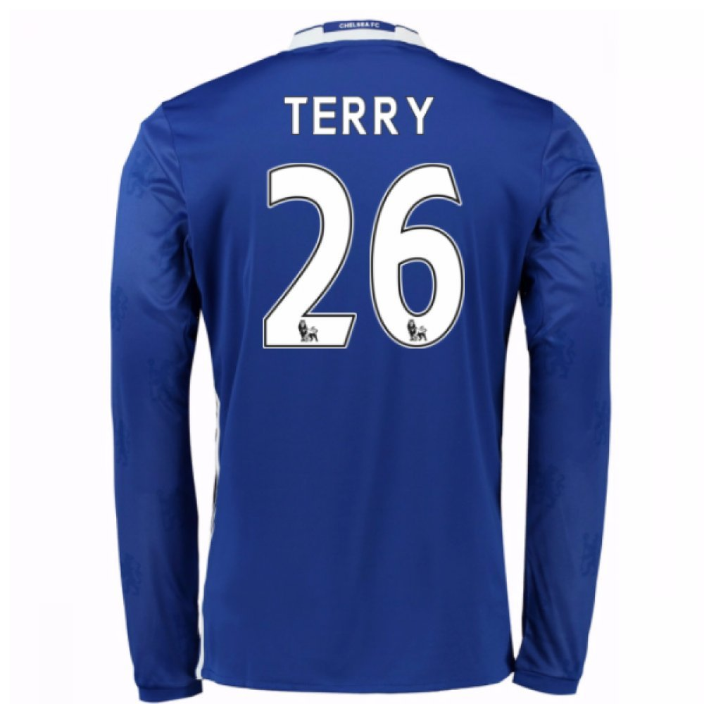 2016-17 Chelsea Home Long Sleeve Shirt (Terry 26) Kids B077Z5VT4LBlue XL Boys 32-34\