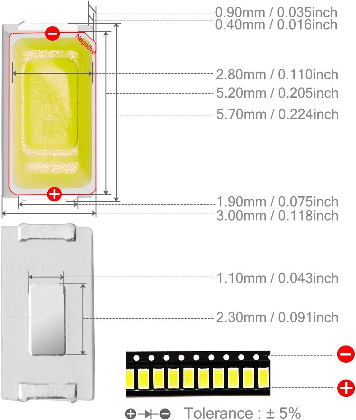 5730 LED SMD SMT Leuchtdioden Licht Rot Grün Blau Warm Weiß Weiß 5Farben FG