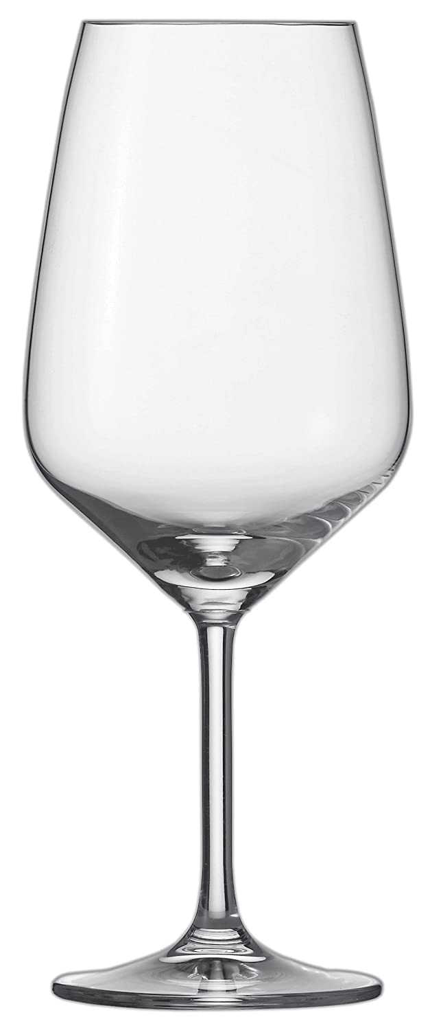 Schott Zwiesel 115672 Bordeaux 130 Red Wine Glass, Lead-free crystal glass, clear, 9.5 x 9.5 x 23.7 cm 6 Units