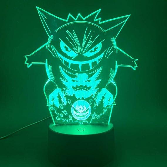 Pokemon GO Farben LED Nachtlampe Licht Digital Glühend Wecker Mode Geschenk
