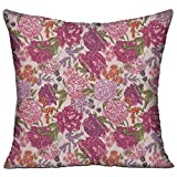HAIXIA Shabby Chic Decor Peonies Blackberry And Wild Flowers In Vintage Style Colorful Nature Yard Decorative House Decor Throw Pillow Cover 18'' X 18''inch Double Side Print