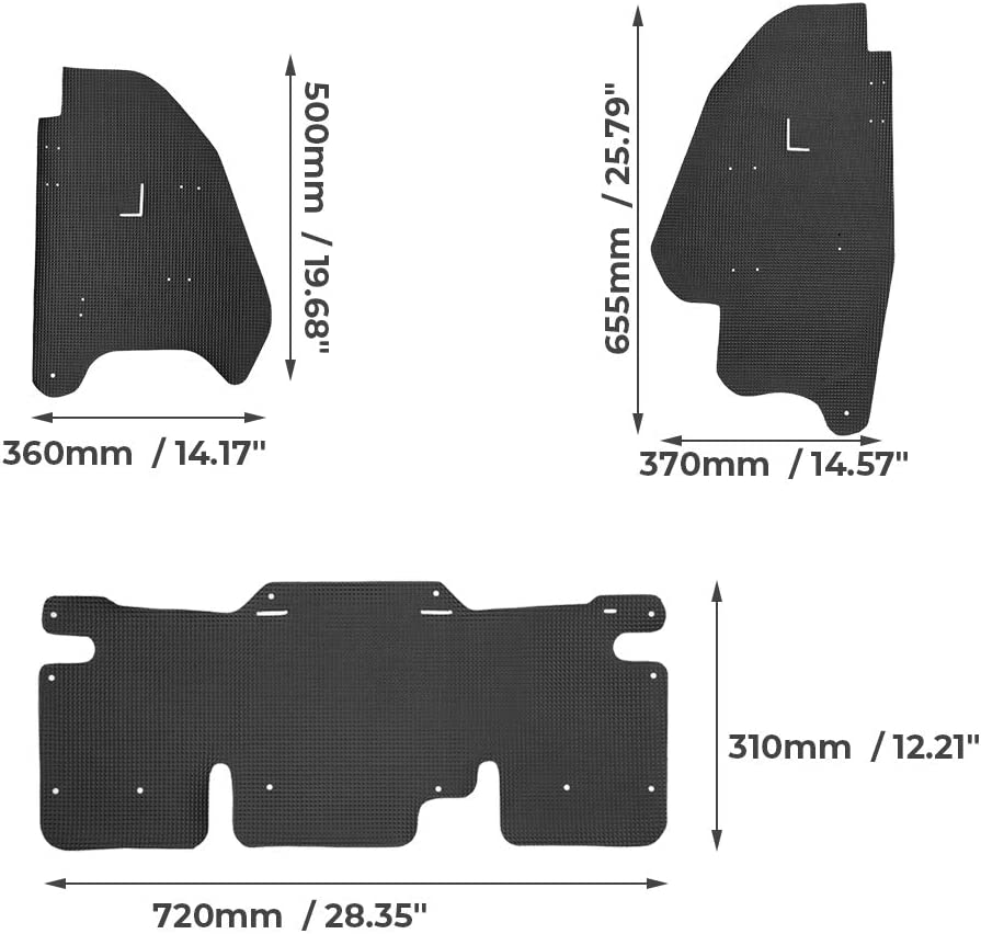 kemimoto Mud Guard Dust Shield Compatible With Honda Talon 1000R 1000X 1000X-4 2019 2020-3 Packs