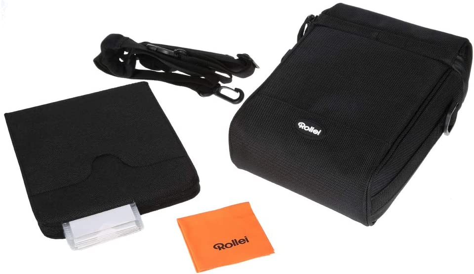 Holds up to 10/Filter includes Shoulder Strap Rollei Rectangular Filter Bag Mark II 150/mm Strong Photographic Filter Transport and Storage Case