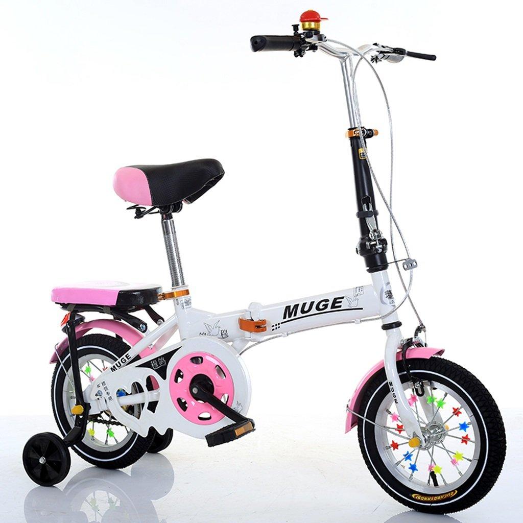 CSQ 子供の折り畳み自転車、男の子、女の子生徒4色オプション補助ホイール高炭素鋼ボディ丈夫で安全な子供用5-13 106-146CM 子供用自転車 (色 : D, サイズ さいず : 127CM) B07DWN2Q65 127CM|D D 127CM