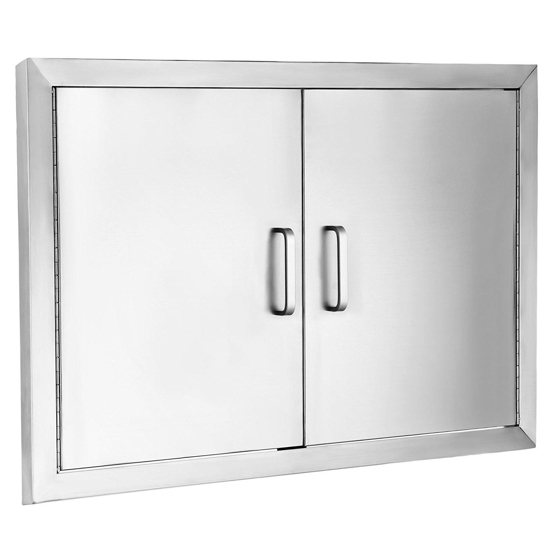 Z-bond 31'' Wx24 H BBQ Access Door 304 Stainless BBQ Island Door Heavy Duty Double Door Flush Mount Great for Outdoor Kitchen