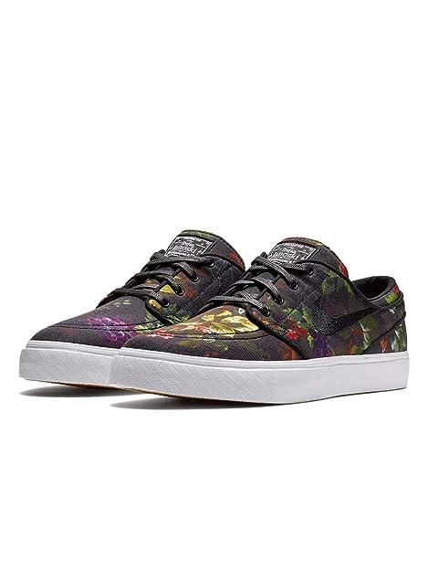 release date a1f0a ece90 Nike Zoom Stefan Janoski Cnvs, Zapatillas de Deporte para Hombre,  Black/White/Gum Light Brown 900, 45.5 EU: Amazon.es: Zapatos y complementos