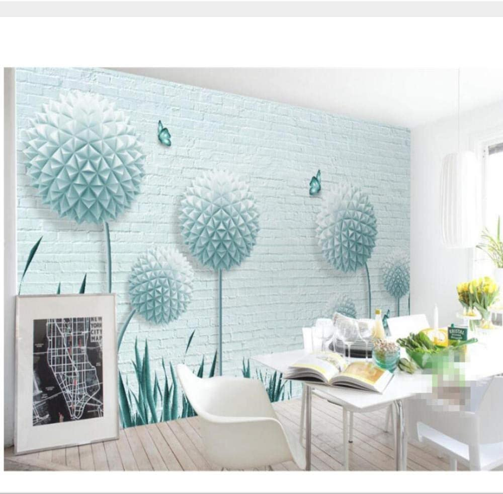 Amazon Com Zjxxm Custom Wall Wallpaper Murals 3d Stereo Ball Dandelion Brick Wall Tv Background Wall Wallpaper For Walls 3 D Tapeten 450cmx300cm Kitchen Dining