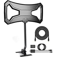 Skytek 150 Miles Outdoor HDTV Antenna with Pole Mount for 4K FM/VHF/UHF Free Channels